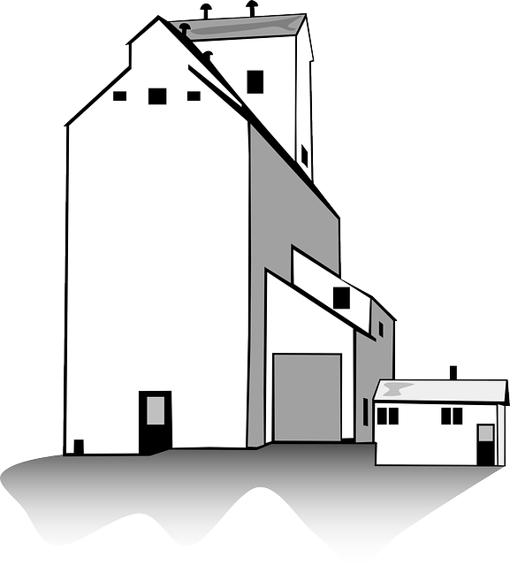 Rice mill clipart.
