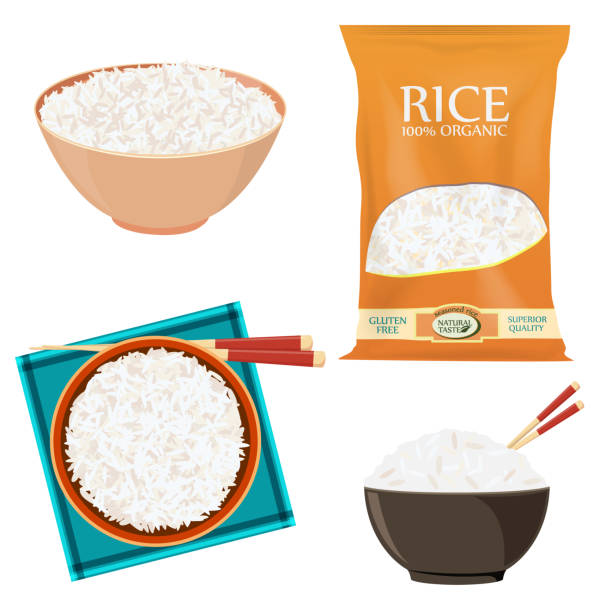 Best Rice Grain Illustrations, Royalty.