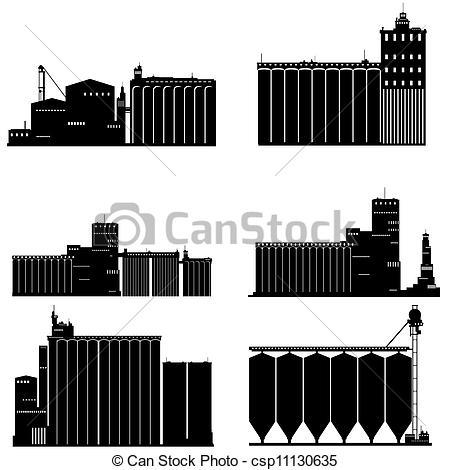 Grain elevator Vector Clipart Illustrations. 48 Grain elevator.