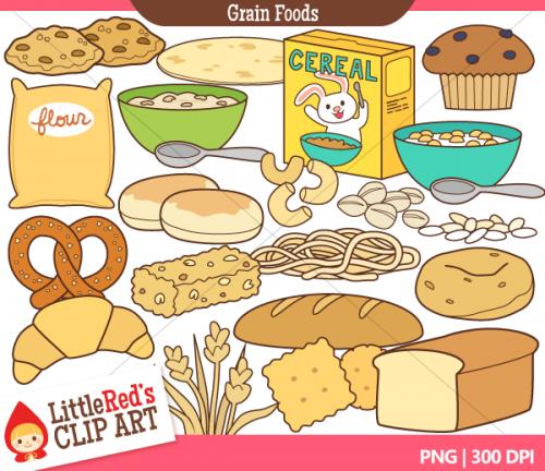 grain foods clip art.