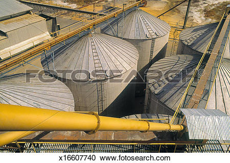 Stock Photography of Grain storage bins, Venezuela x16607740.