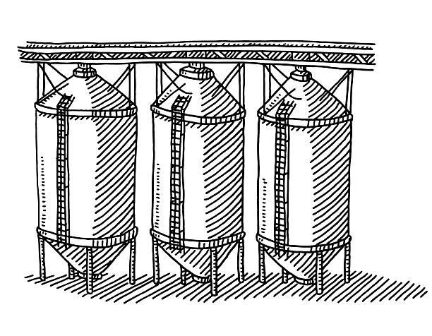 Grain Storage Clip Art, Vector Images & Illustrations.