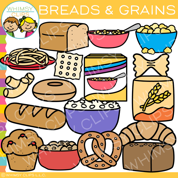 Breads and Grains Clip Art.