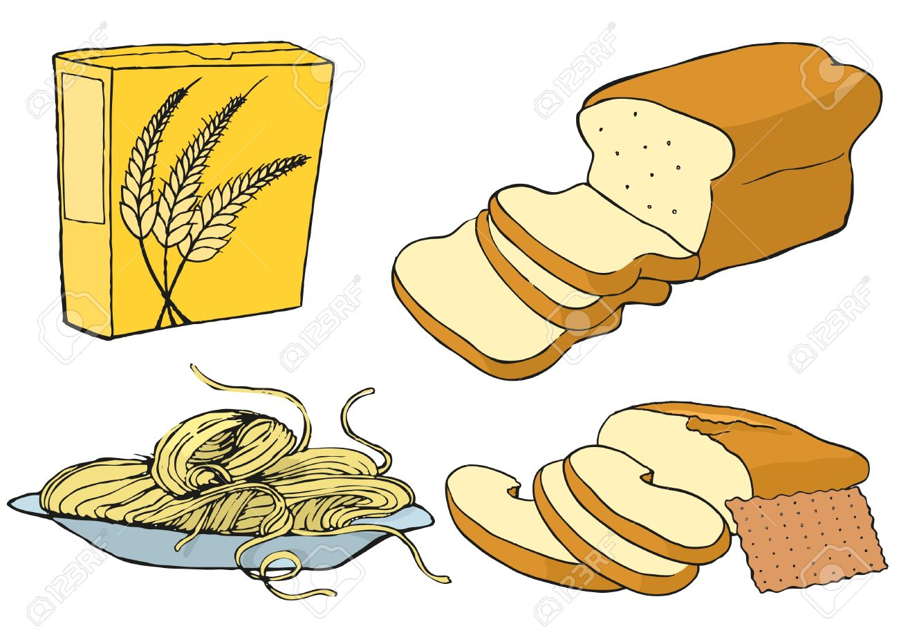 Grains food group clipart.