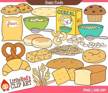 Bread and Grains Food Clip Art.