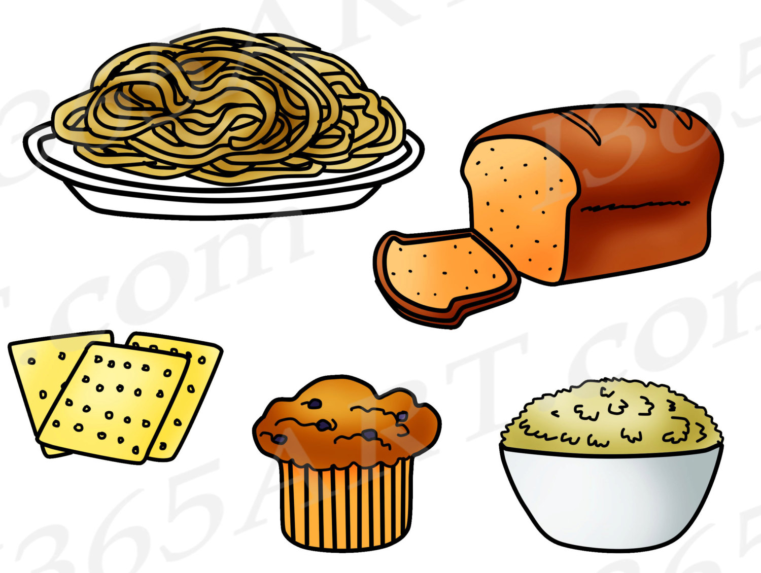 Collection of Grains clipart.