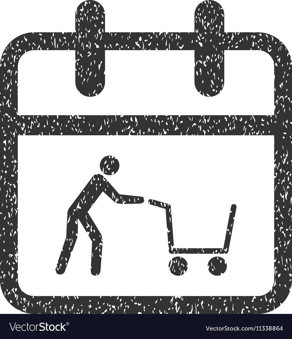 Shopping Day Grainy Texture Icon.