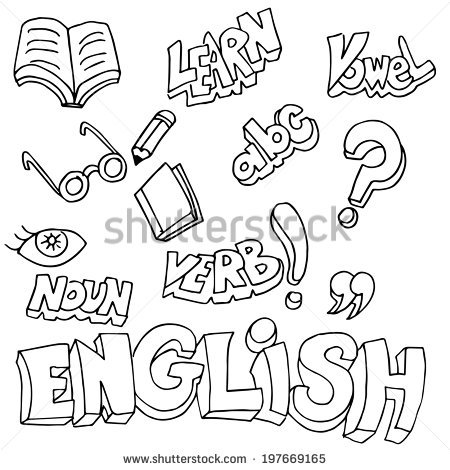 English Book Clipart Black And White.