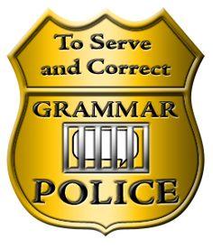 Grammar Police Clipart.