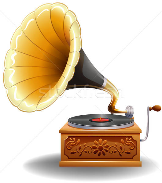Gramophone vector illustration © Daniel Cole (bluering.