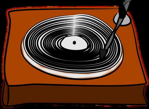 De desen vector gramofon.