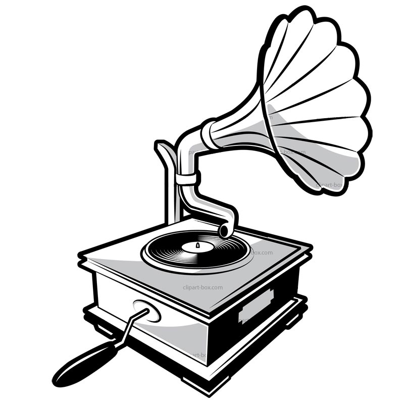 CLIPART GRAMOPHONE.