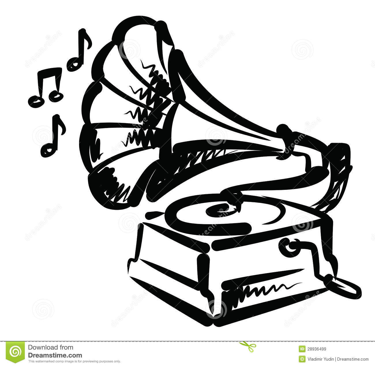 Gramophone Icon Royalty Free Stock Images.