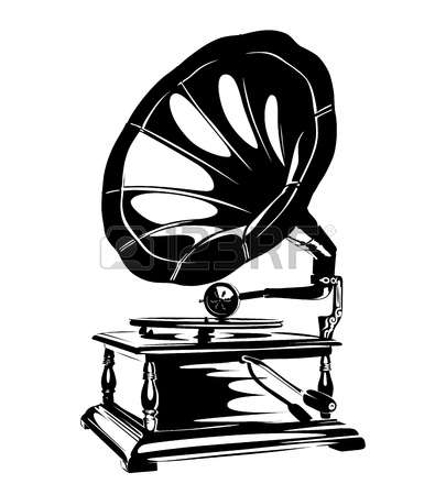 6,993 Gramophone Stock Vector Illustration And Royalty Free.