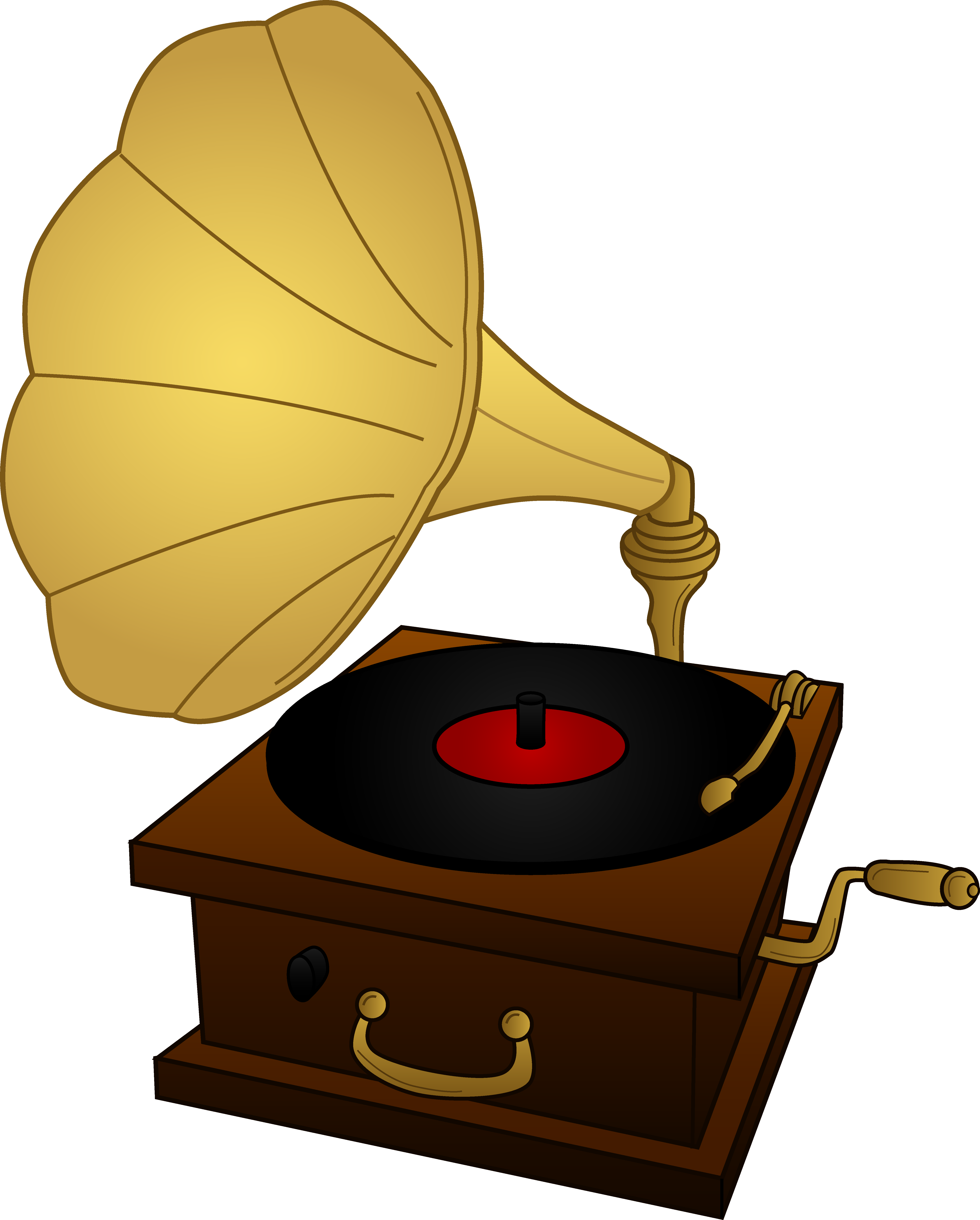 Gramophone Record Player.