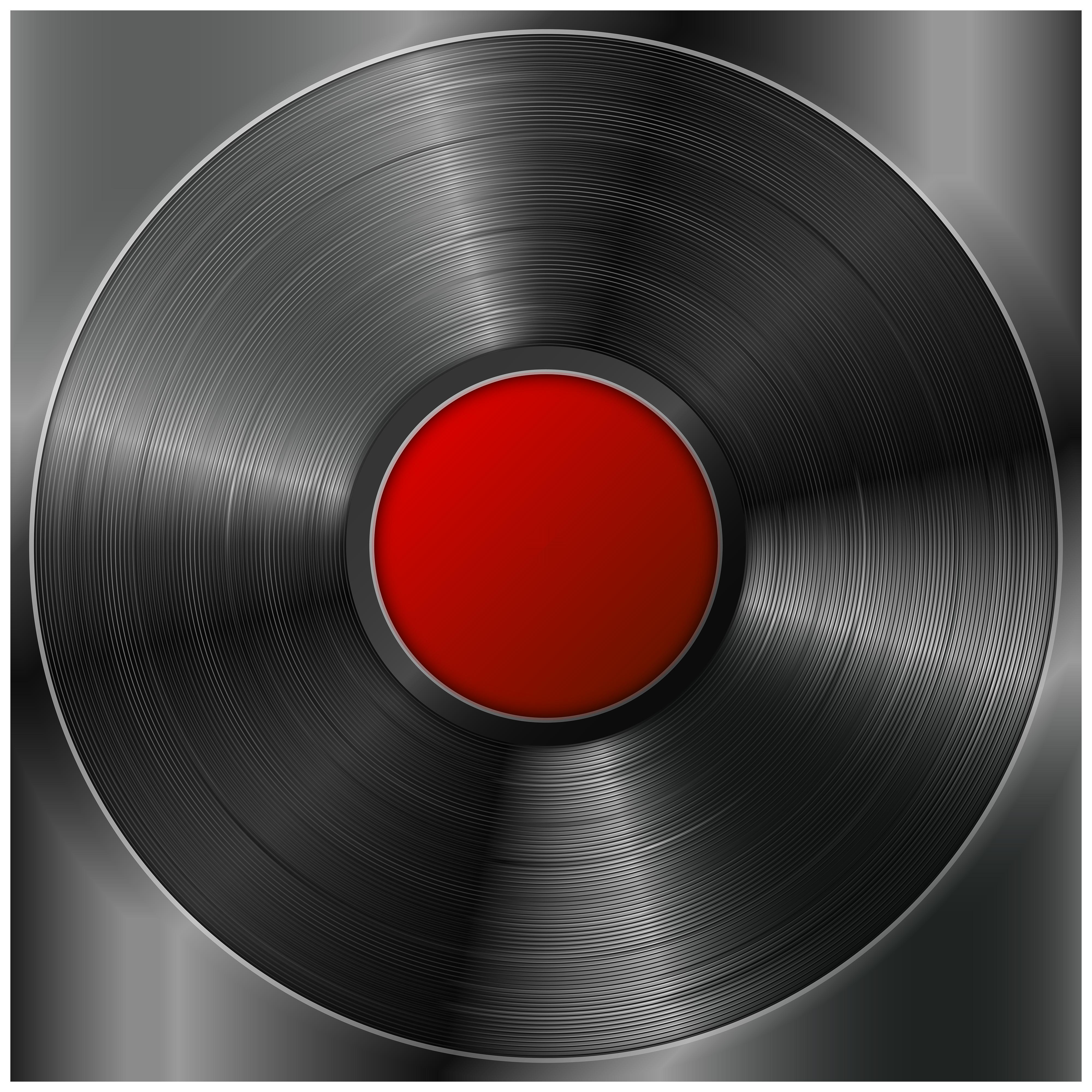 Gramophone Vinyl LP Record PNG Transparent Clip Art Image.