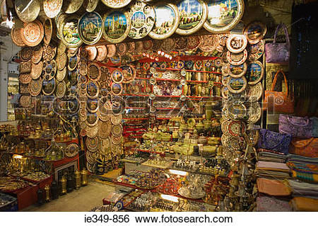 Stock Images of Stall at istanbul grand bazaar ie349.