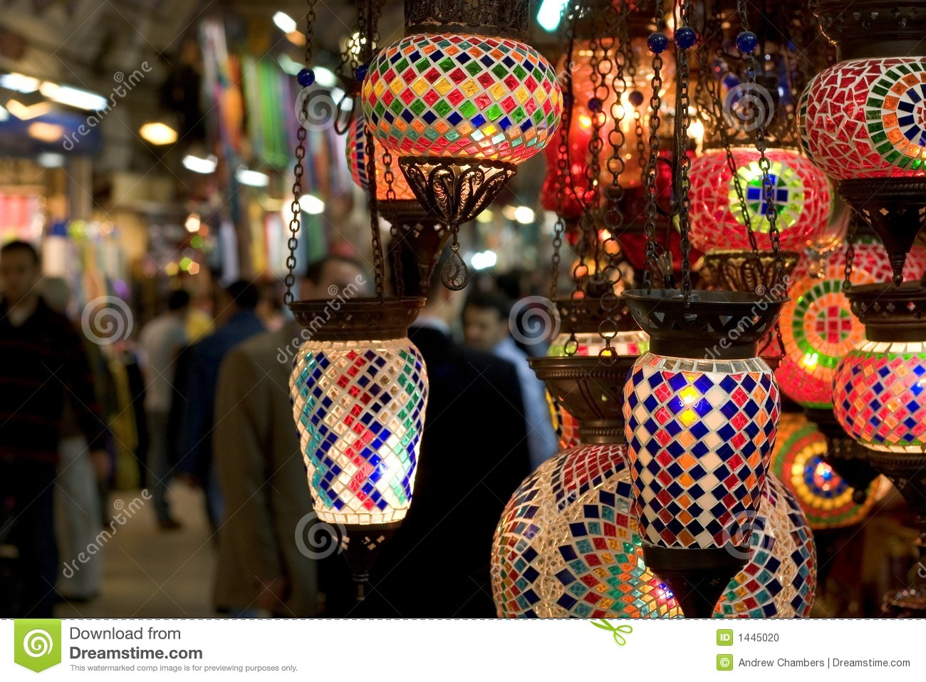 Grand Bazaar Lamps Stock Photo.