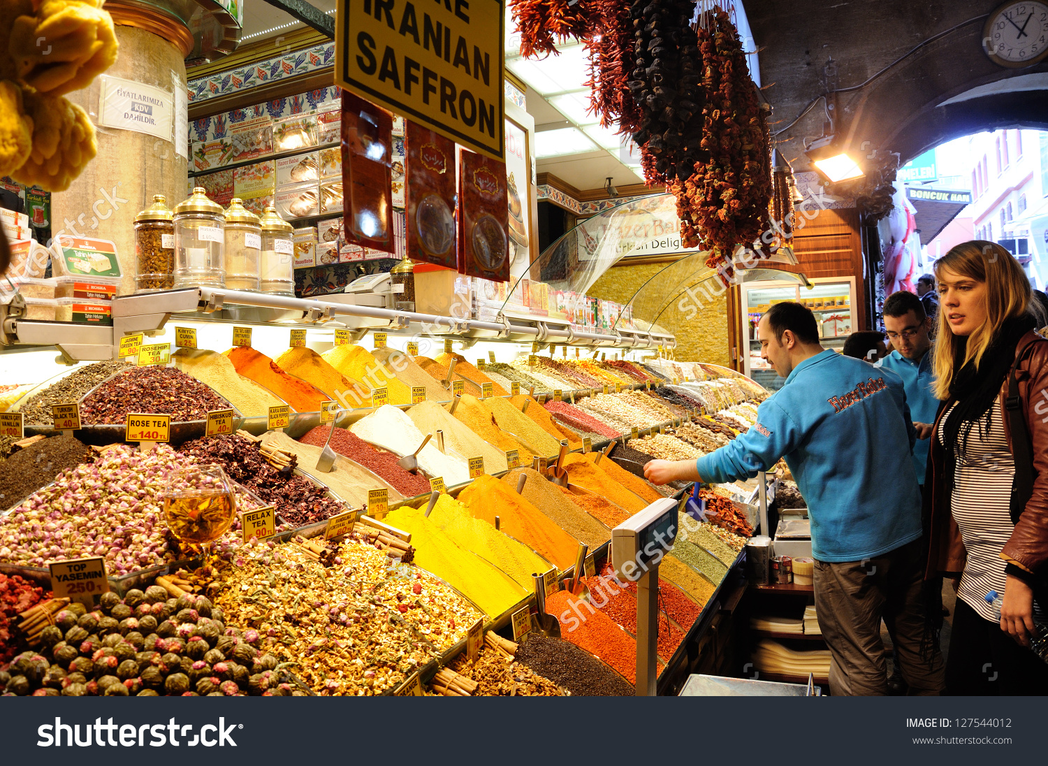 Istanbul April 2 Inside Grand Bazaar Stock Photo 127544012.