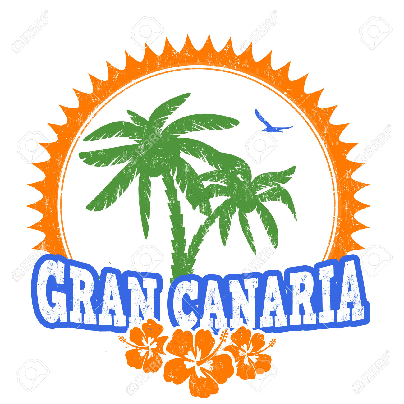 Gran Canaria Travel Rubber Stamp On White Background, Vector.