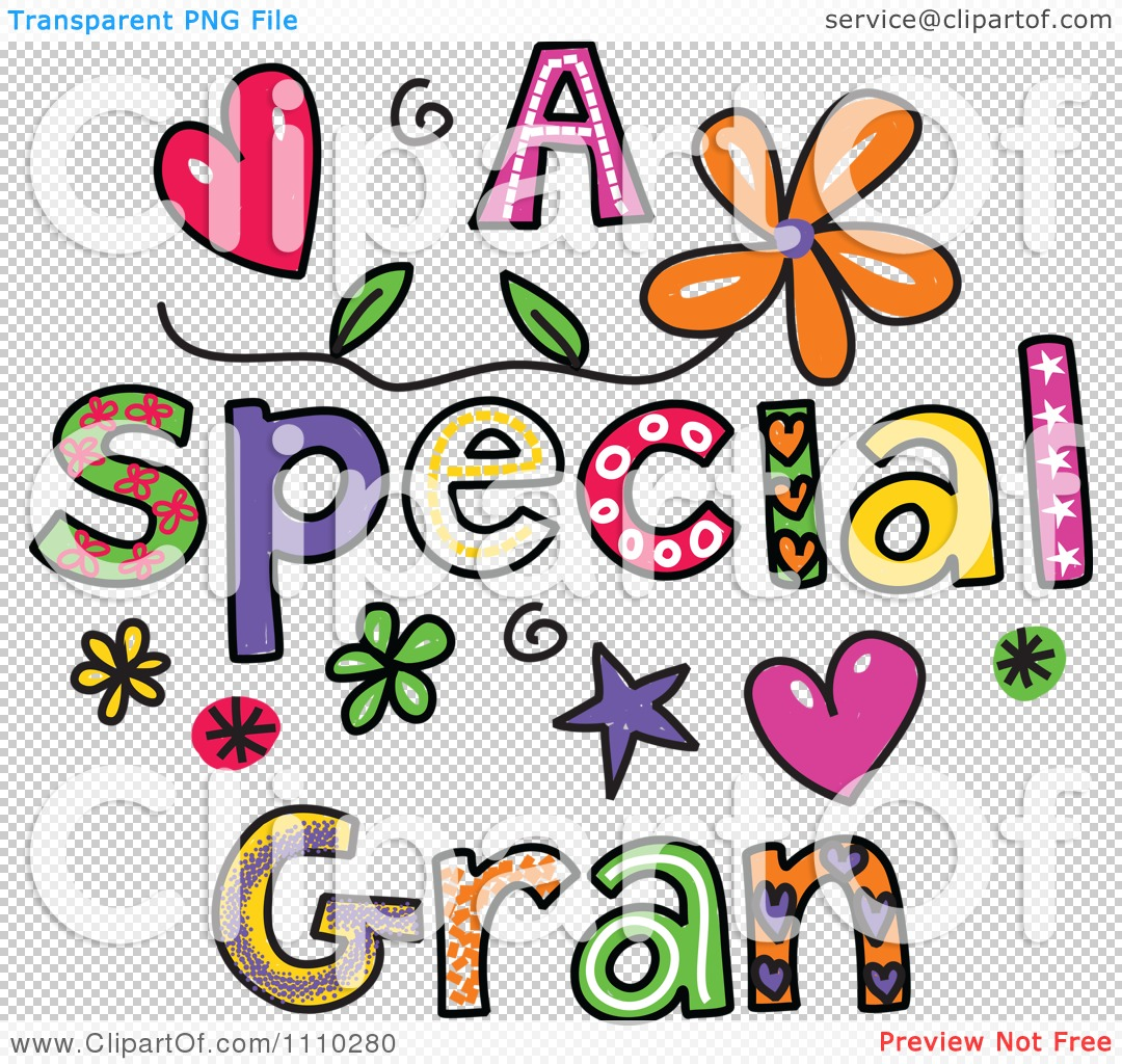 Clipart Colorful Sketched A Special Gran Text.