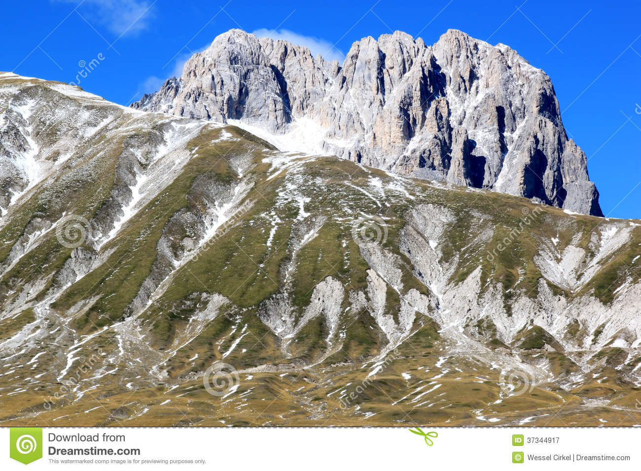 Gran Sasso Mountain In The Apennines, Italy Royalty Free Stock.
