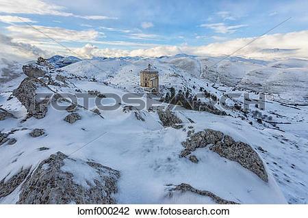 Stock Photo of Italy, Abruzzo, Gran Sasso e Monti della Laga.