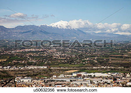 Stock Images of Gran Sasso mountain, Abruzzo, Italy u50632356.