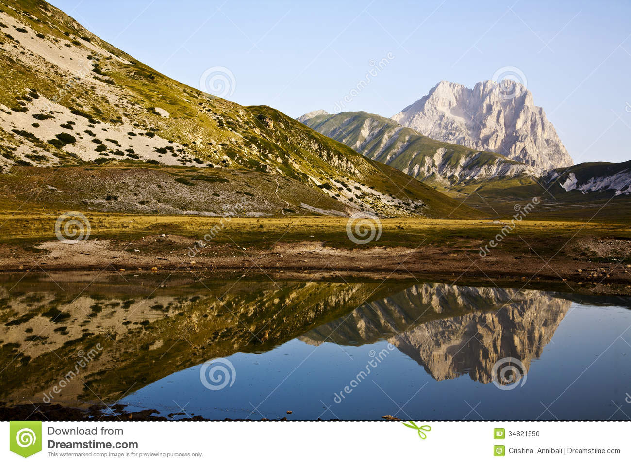 Gran Sasso Of Italy Stock Photo.