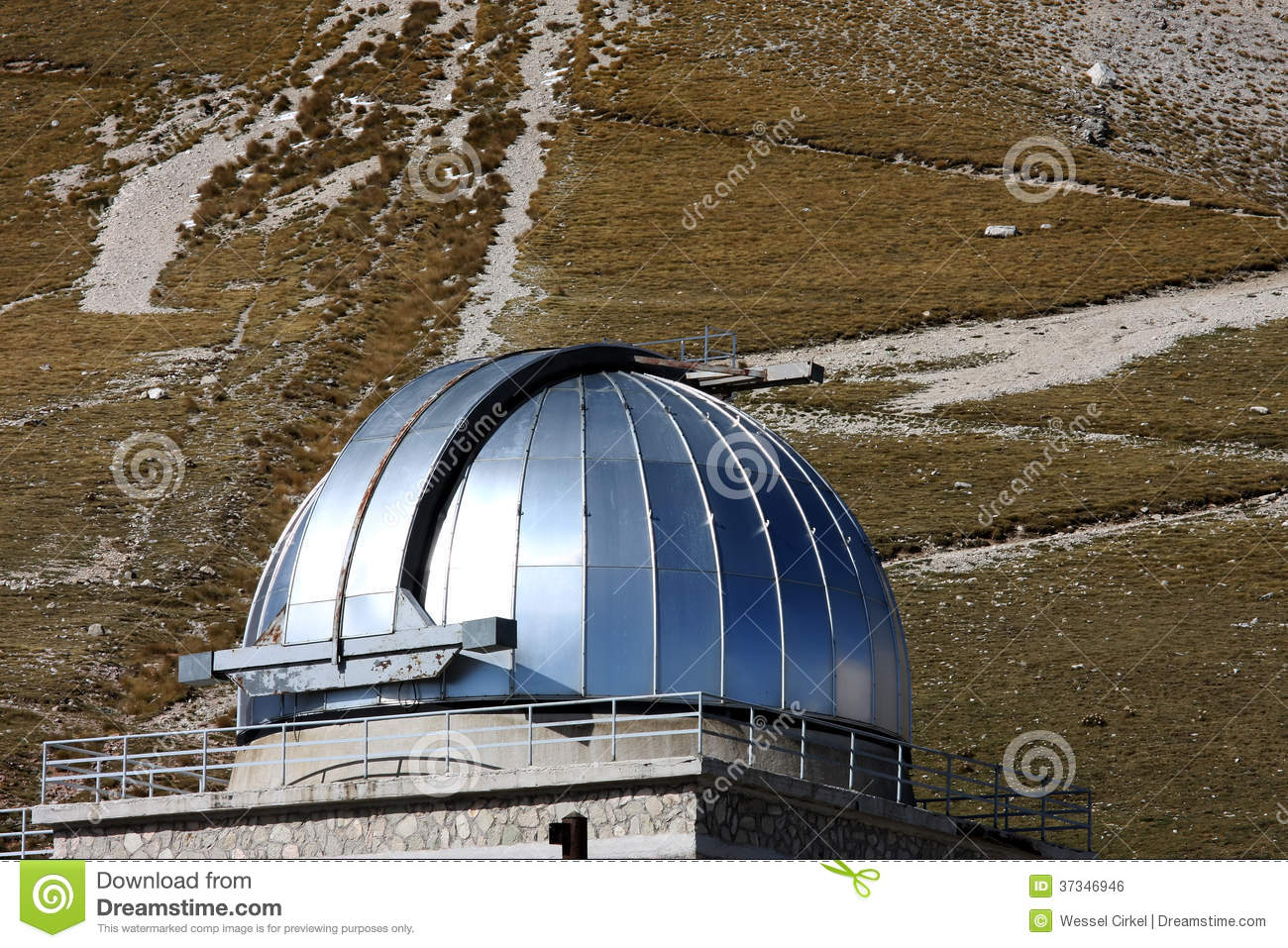 Dome Of Rome Observatory, Gran Sasso Park, Italy Royalty Free.