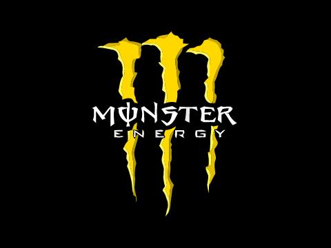 Monster Energy logo yellow.