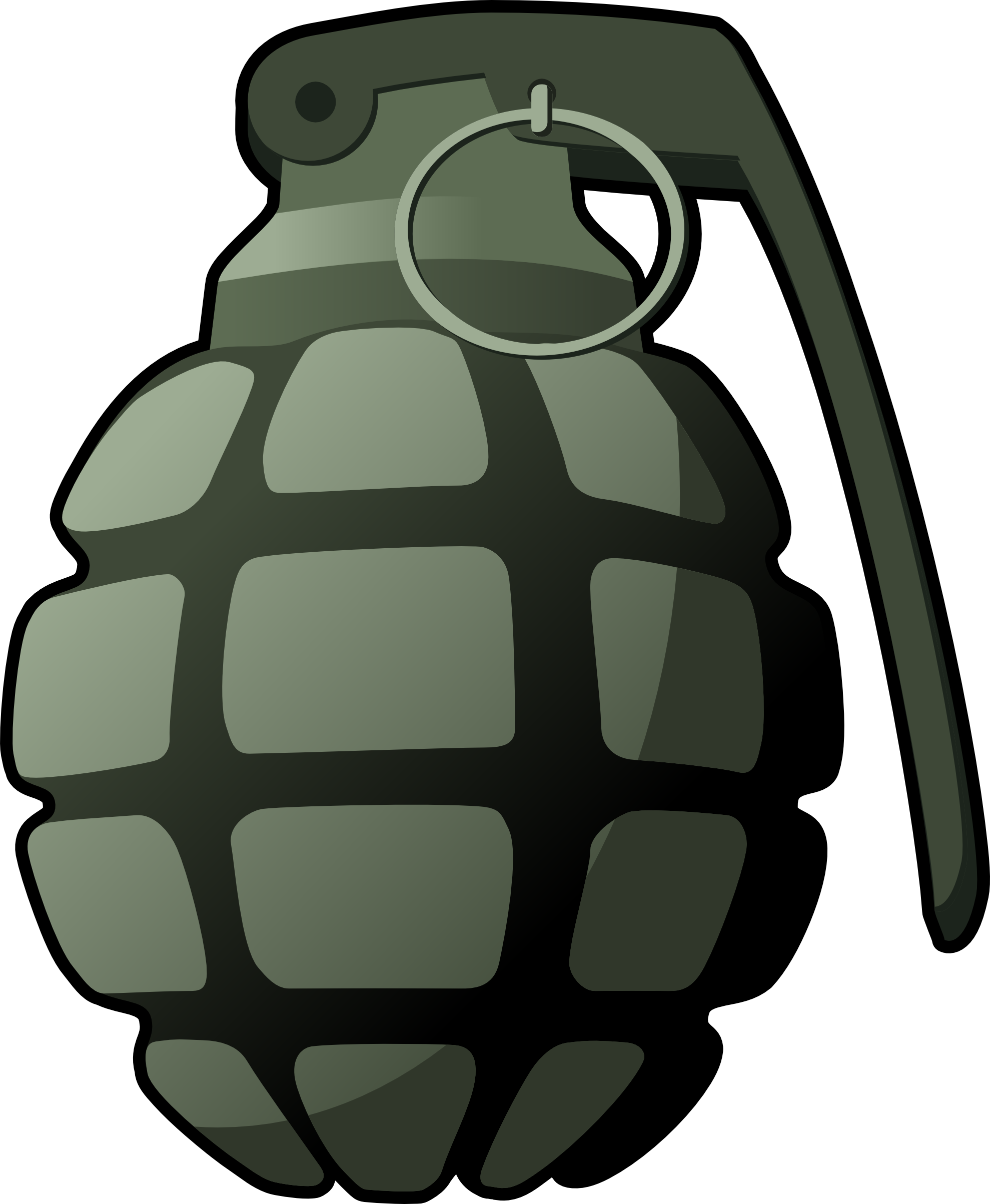 Isolated Photos of grenade.