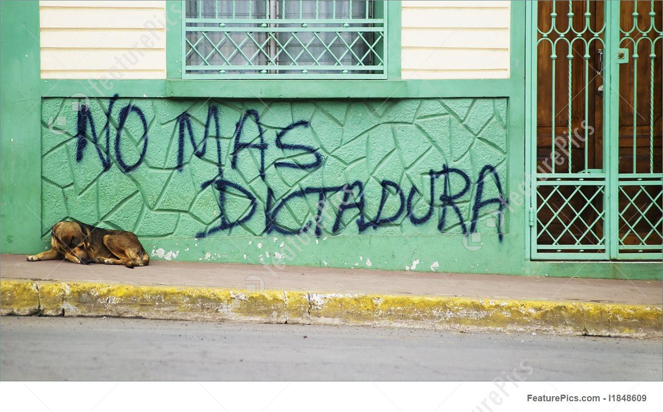 Picture Of Anti Government Graffiti In Nicaragua.