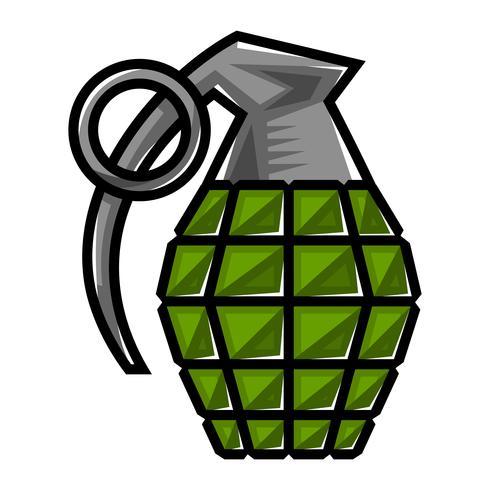 Hand grenade vector illustration.