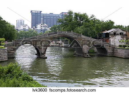 Stock Photography of bridge over Grand Canal,China lvk3600 in.