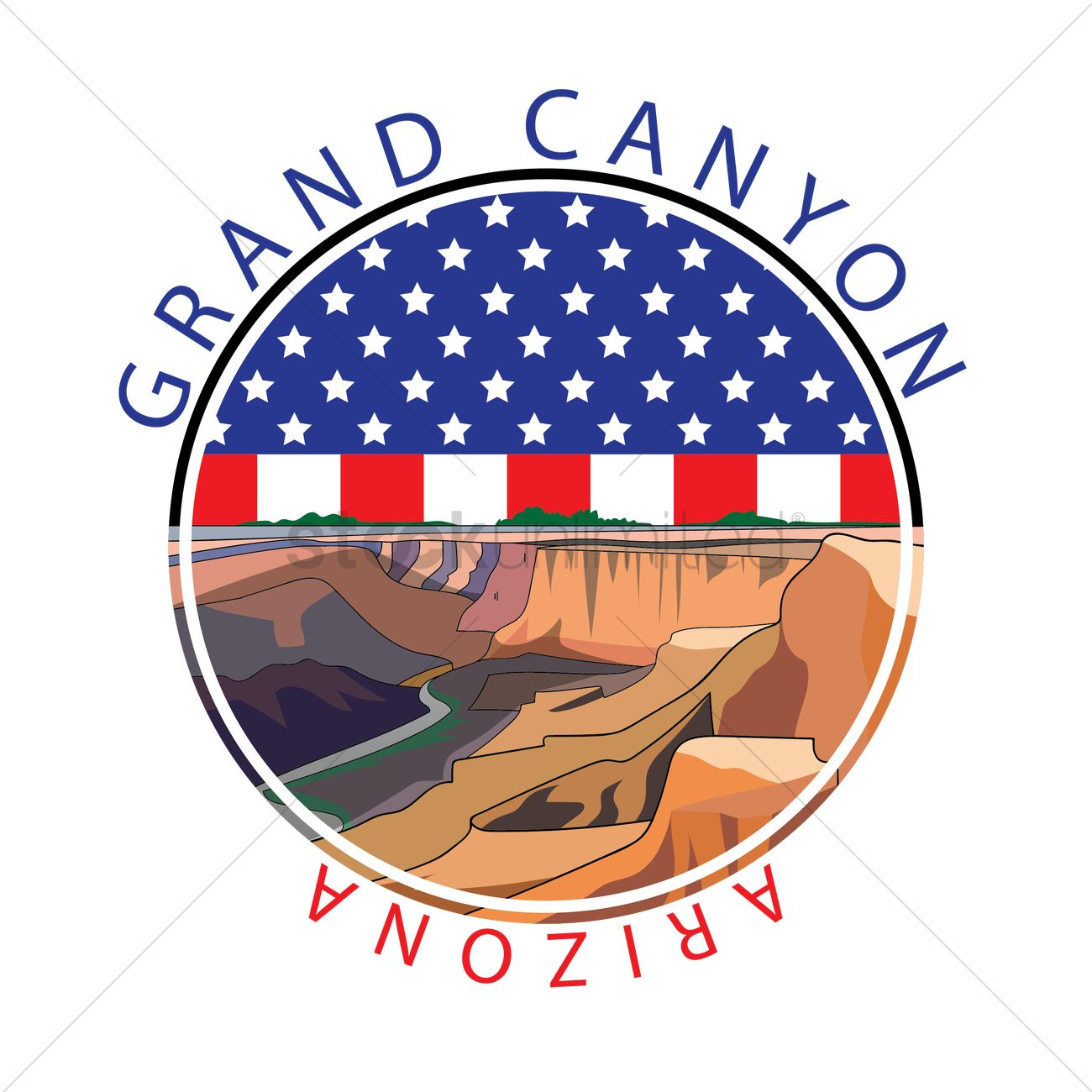 Grand canyon Vector Image.