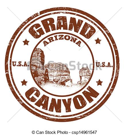 EPS Vector of Grand Canyon stamp.