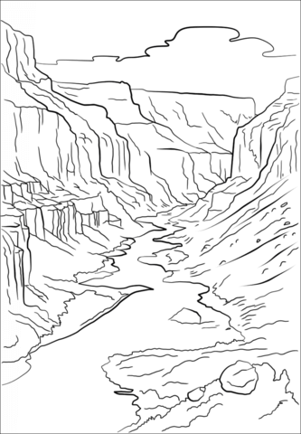 Grand Canyon Coloring page.
