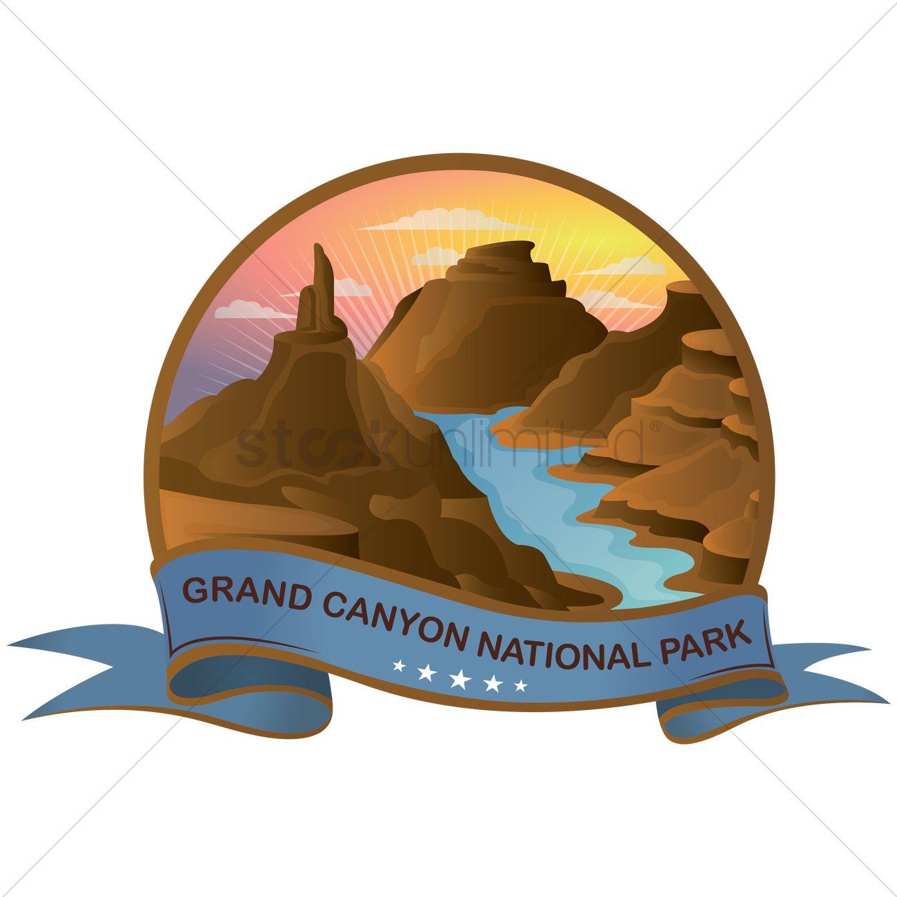 Grand canyon national park Vector Image.