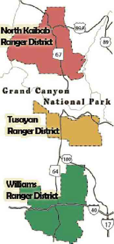 NCHGC: Sites and Stories: Adjacent Lands: Kaibab National Forest.