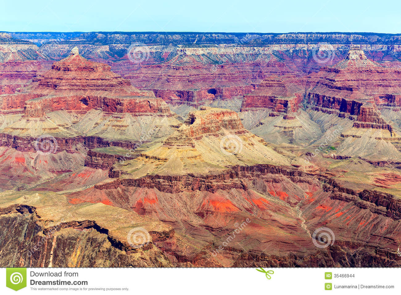 Arizona Grand Canyon National Park Yavapai Point Stock Images.