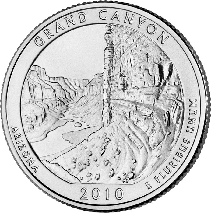 US Mint and NPS Release Grand Canyon National Park Quarter.