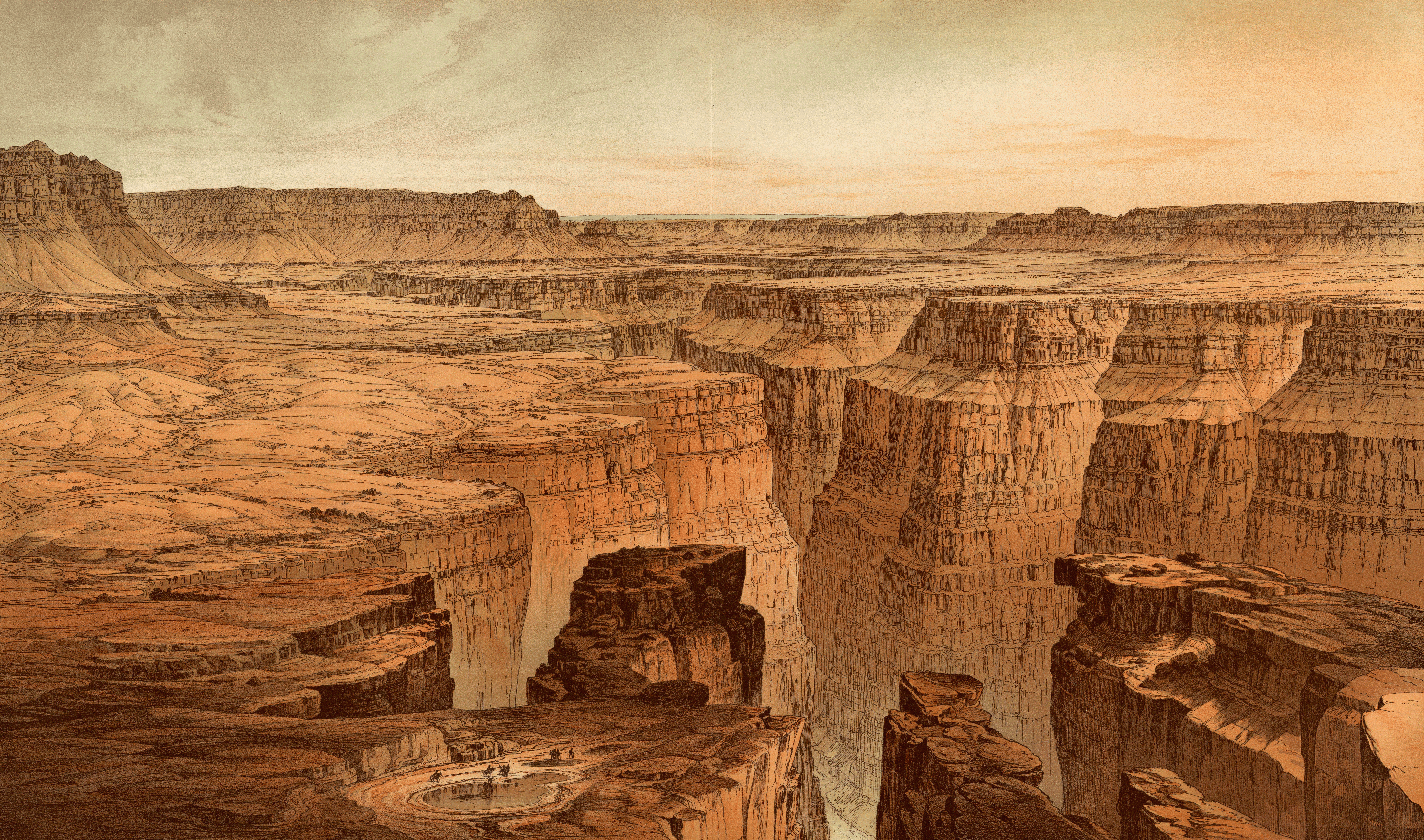 File:Grand Canyon at the foot of the Toroweap.