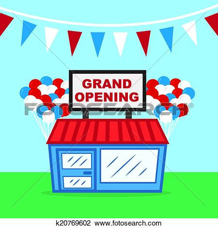 Clipart of Store Grand Opening k20769602.