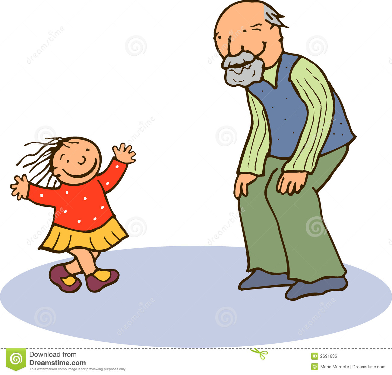 Grandmother And Granddaughter Clipart.