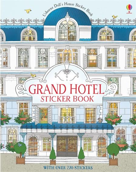 Grand hotel dolls house sticker English books for kids Usborne.