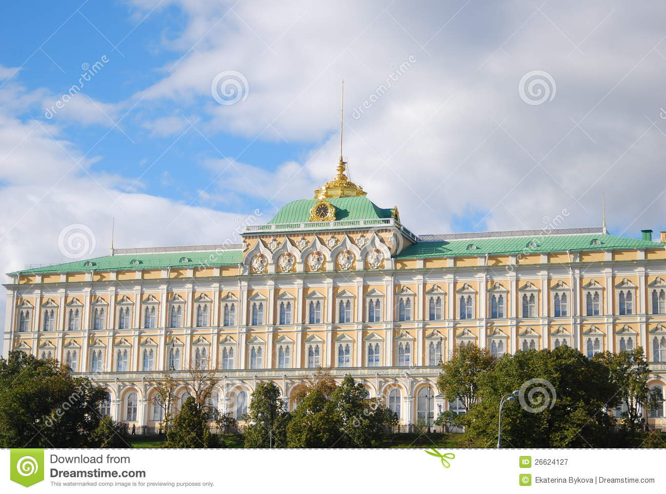 The Grand Kremlin Palace. Moscow Kremlin, Russia. Royalty Free.