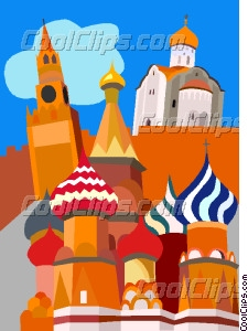 Moscow, Grand Kremlin Palace Vector Clip art.