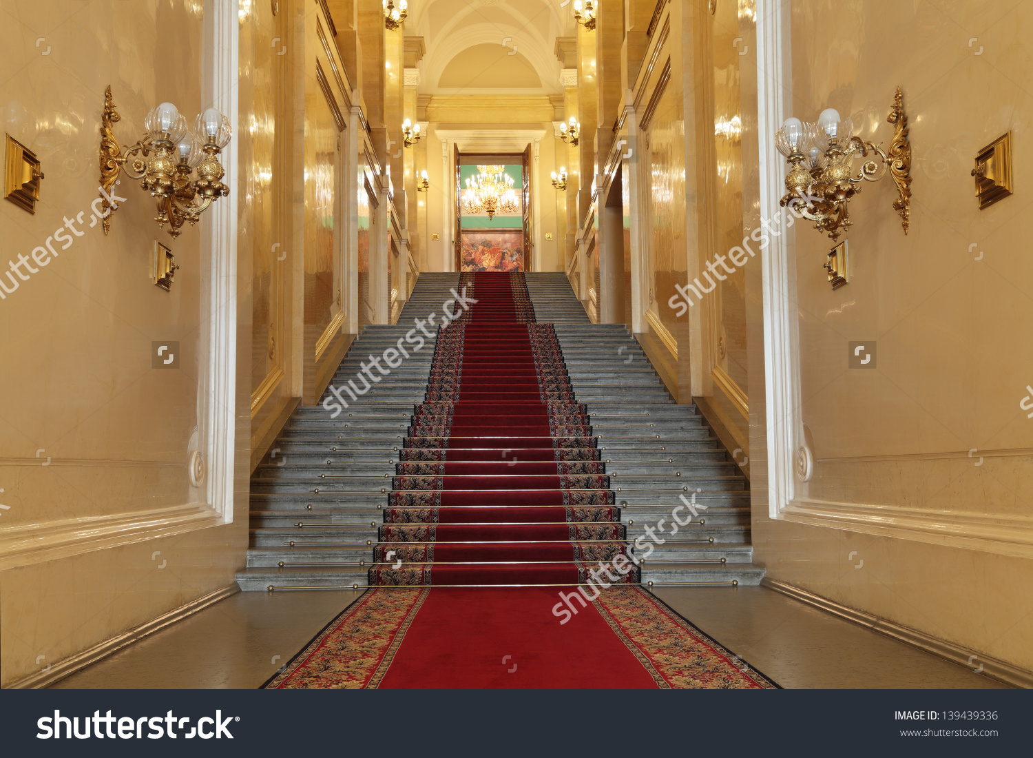 Moscowfeb 22 Interior View Grand Kremlin Stock Photo 139439336.