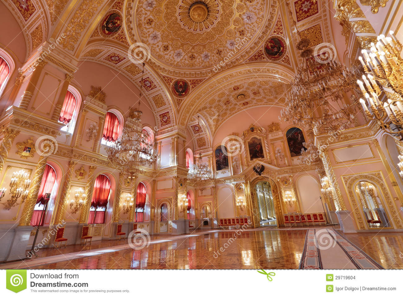Grand Kremlin Palace Stock Images.